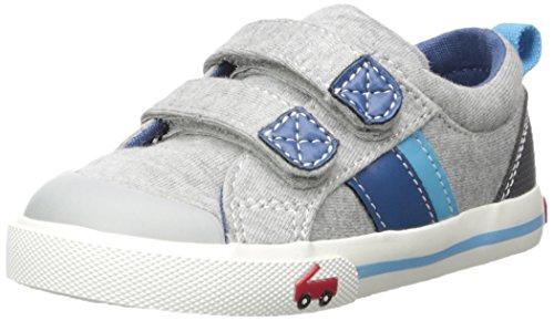 See Kai Run Boys' Russell Sneaker, Gray Jersey, 12 M US Little Kid (Vans Strap Shoes)