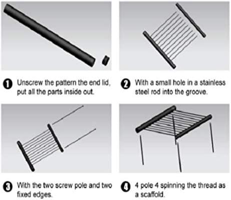 Honghaier Barbecue portable pliable en acier inoxydable