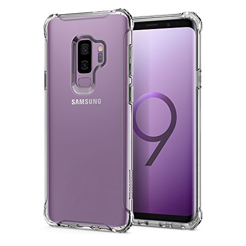 Spigen Rugged Crystal Galaxy S9 Plus Case with Clear Flexible and Durable Shock Absorption for Samsung Galaxy S9 Plus (2018) - Crystal Clear by Spigen