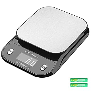 Digital Kitchen Scale, Tomorotec Precise 5kg / 11lb Wide Range Food Scale Cooking Scale and Baking Scale with Backlit