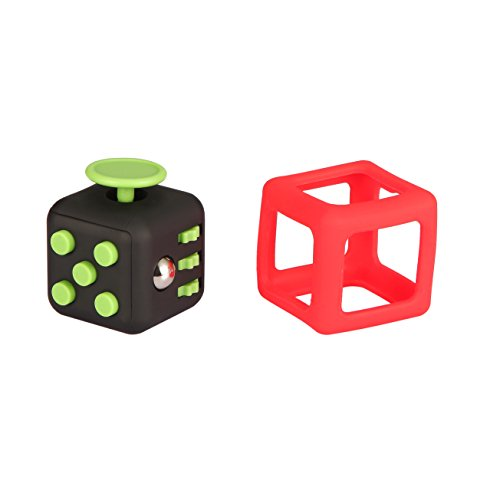 3PCs 1 Fidget cubes + 1 Case + 1 silicon Frame -