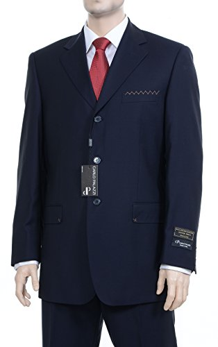classic-fit-sold-navy-blue-three-button-wool-suit-made-in-italy