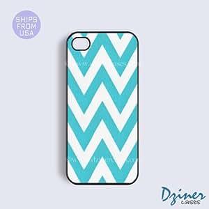 iPhone 5c Case - Aqua Chevron iPhone Cover