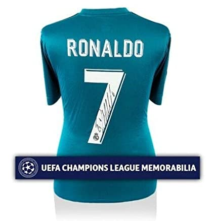 d6976a5eb07 Image Unavailable. Image not available for. Color  Cristiano Ronaldo  Autographed Signed Memorabilia Real Madrid 2017-18 Third Jersey Shirt Icons  ...