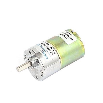 DealMux DC 24V 500rpm 6 milímetros Shaft Dia Gear Box velocidade Reduzir motor elétrico