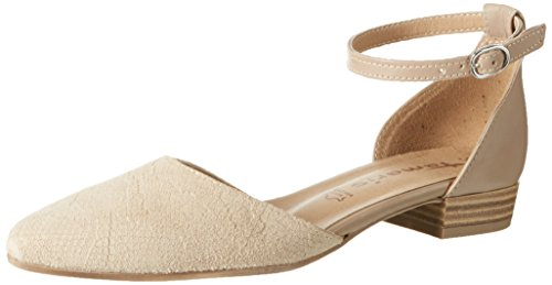 Tamaris Women's 24227 Ankle Strap Pumps Beige (Nature/Struct. 326)