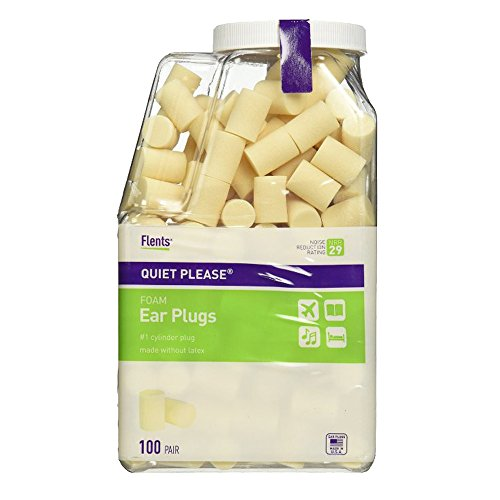 Flents Quiet Please Foam Ear Plugs Nrr 29dB (100 Pair) Hearing Protection by Apothecary