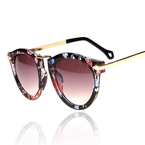 CoWalker® Large Frame Round Face Sunglasses Uv Protected Summer Eye Glasses Wayfarer Sport Eyewear - Face Sunglass Round
