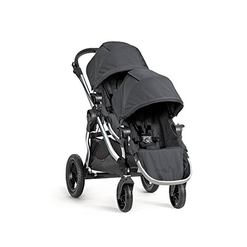 Baby Jogger 2016 City Select Double Stroller with 2nd Seat, Onyx (Double Triple Strollers)