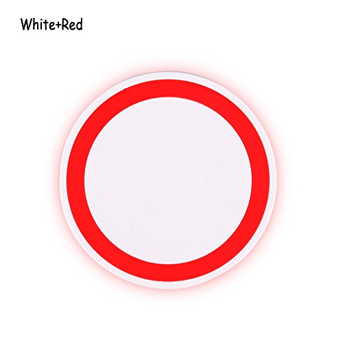 Phoneix Wireless Power Charger Quick Charging Pad for Samsung S8 Plus S8 S7 Edge S6 White Red