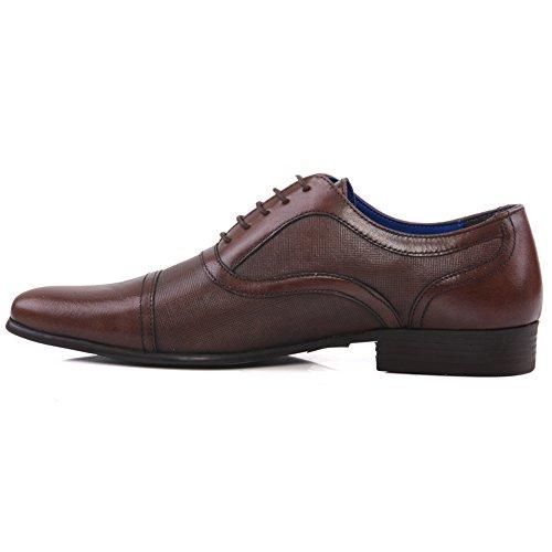 Unze BRITÁNICO Marrón `de Potton vestir de 11 'de los cuero Tamaño 7 hombres del Zapatos de Yq7frZFY