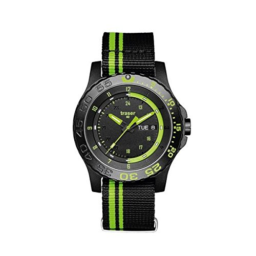 traser H3 Green Spirit Sapphire Watch | Textile Watch Band - Black/Green