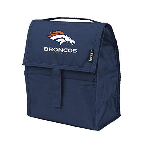 Kolder NFL Denver Broncos Freezable Lunch Bag, Large, Blue