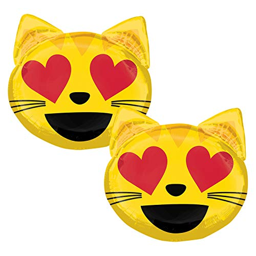 Set of 2 Smiling Cat with Heart-Shaped Eyes 22