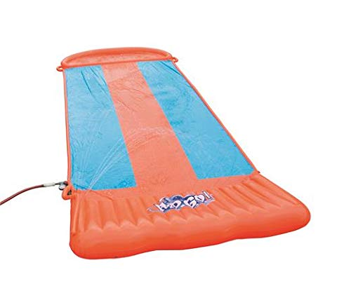 Bestway H2OGO! Triple Inflatable Water Slide for Outdoor Summer Family Fun Party w/Speed Ramp