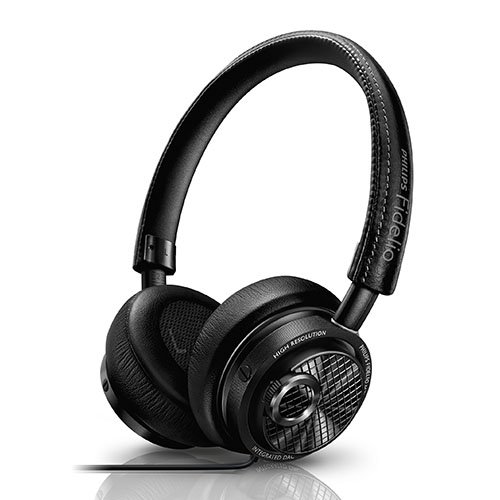 Philips Fidelio M2L/27 High Resolution Headphones with Built-in DAC and Lightning Connector for Apple iOS (Black) by Philips