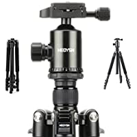 Heoysn Portable Camera Tripod 61.8 Inch Aluminum Alloy Lightweight Travel Tripod, 360 Degree Ball Head, Quick Release Plate and Carrying Bag for DSLR Camera DV Lumix Canon Nikon Sony