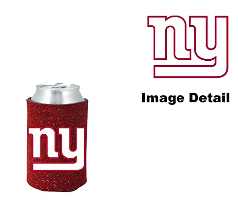 New York Giants NFL Team Logo Sports Drink Beer Water Soda Beverage Can Insulated Picnic Outdoor Party Beach BBQ Kooler Can Cooler - 12oz Glitter Can