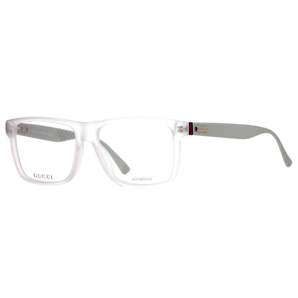 GUCCI 1077 Eyeglasses 0IHP Crystal Palladium 55-15-145