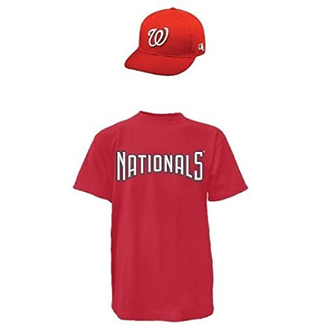 b471f58a086 Image Unavailable. Image not available for. Color  Washington Nationals MLB  Cap   Jersey (Official Major League Baseball Licensed Replica ...