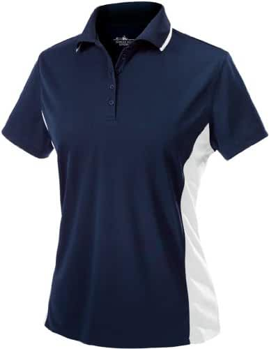 Charles River Apparel Women's Color Blocked Wicking Polo