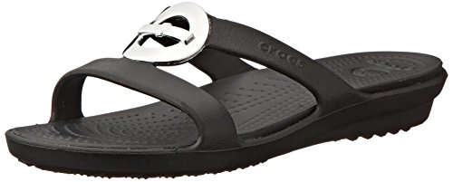 Sandal Black Sanrah black Crocs Bow Cercle txUqTZF