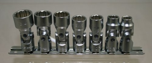 SAE Universal Hand Socket Set Genius Tools 7 Piece 3//8 Dr US-307S 12-Point