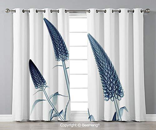BeeMeng Decorative Custom Blackout Curtains,Set of 2 Panels(108