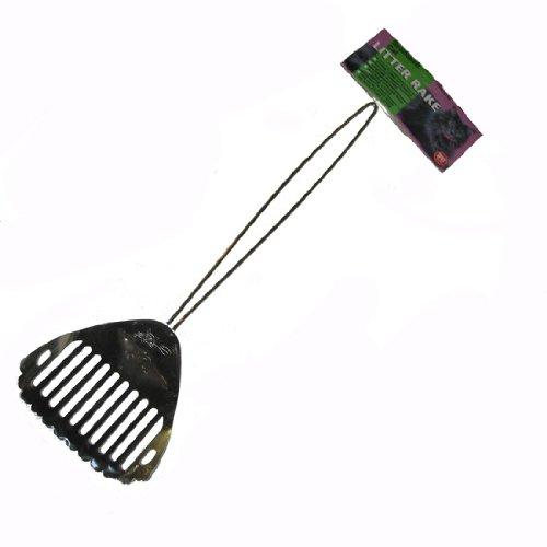 Chrome Litter Scoop - SPOT Scalloped Litter Rake / Scoop 15