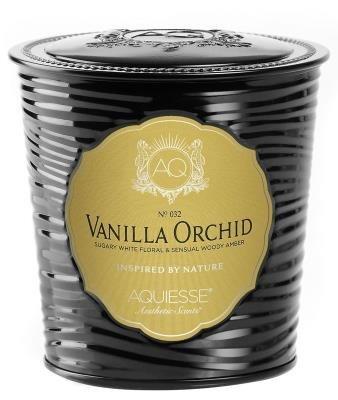 [Aquiesse Fine Scented Portfolio Tin Candle - Vanilla Orchid 11oz] (Vanilla Orchid Scented Candle)