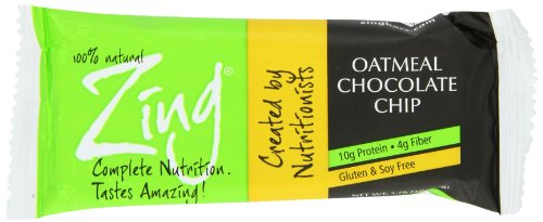 Zing Oatmeal with Chocolate Chips Gluten Free Bars, 1.76-Ounce (Pack of 6)