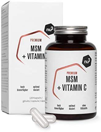 nu3 MSM Premium – Azufre orgánico puro - 120 cápsulas ...