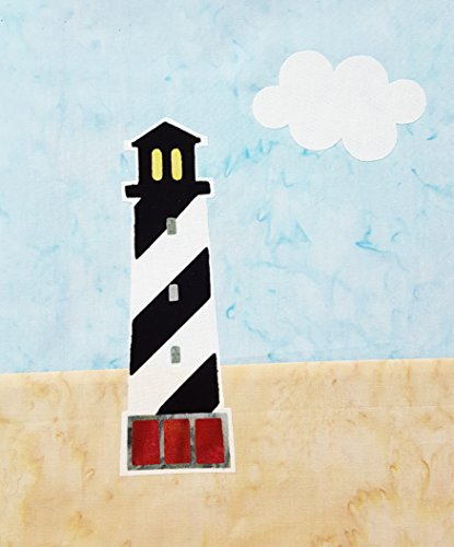 Cape Hatteras Lighthouse Fused Pre-cut Applique Quilt Block Kit (Applique Lighthouse)