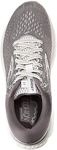 11 Mujer Ghost Zapatillas Gris Silver de 003 Running Grey para Brooks Ebony Hn5Yx1wqw
