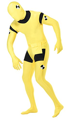 UHC Men's Crash Dummy Skin Suit Funny Comical Theme Party Halloween Costume, L (Crash Dummy Costumes)