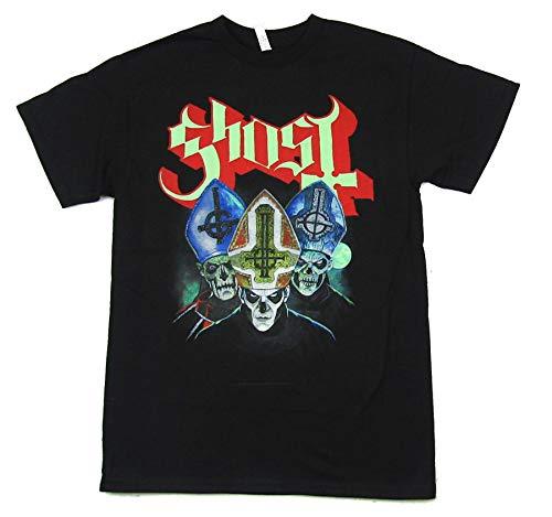 Three Masks Black T Shirt (XL) -