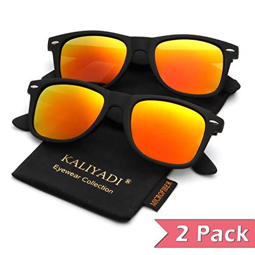 - Polarized Sunglasses for Men and Women | Matte Finish Sun glasses | Color Mirror Lens | 100% UV Blocking