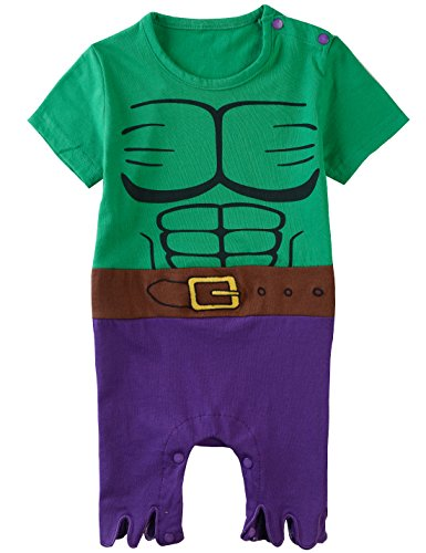 Green Hulk Romper Short
