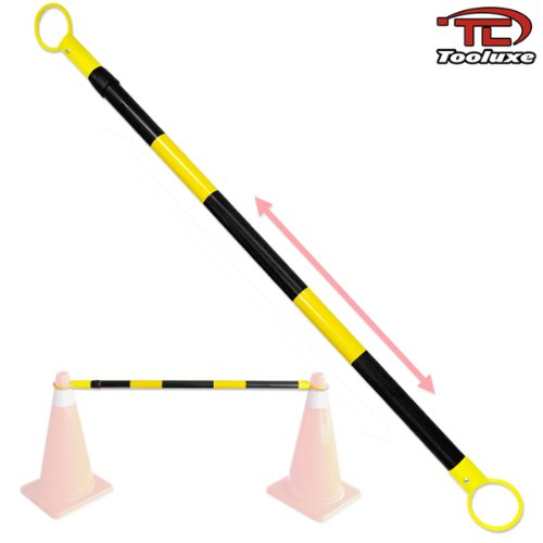 Safety Cone Retractable Bar Yellow/Black Saftey Cone Bar by Voyager Tools
