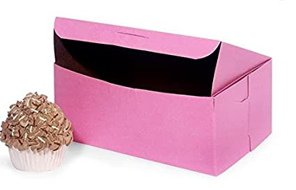 Cupcake de caja, 2, Rosa sin Plantillas (100 unidades)