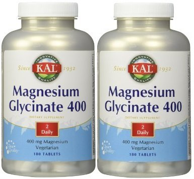 KAL - Magnesium Glycinate 400, 180 tablets (180 x 2) by Kal