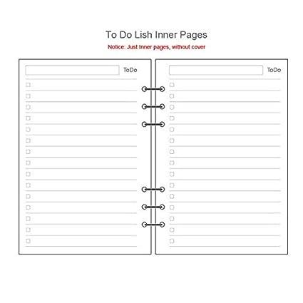 FHJFFDS - Cuaderno de oficina con espiral de piel, tamaño A5 ...
