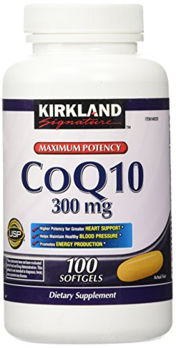 - Kirkland Signature Maximum Potency CoQ10 300 mg 100 Softgels Each