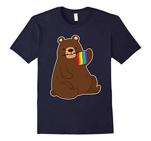 Mens Gay Pride Bear T-Shirt Large Navy (Gay Couple Costume Ideas)