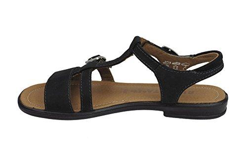 RICOSTA M?dchen Sandalen schwarz, Nubuk, 510211-1, Gr 32