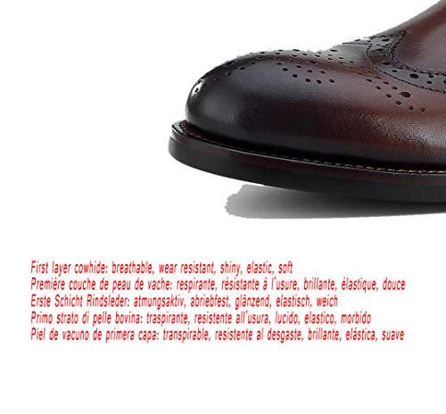 Chaussures Noir Respirant Pointu Gentleman Brown Forme De