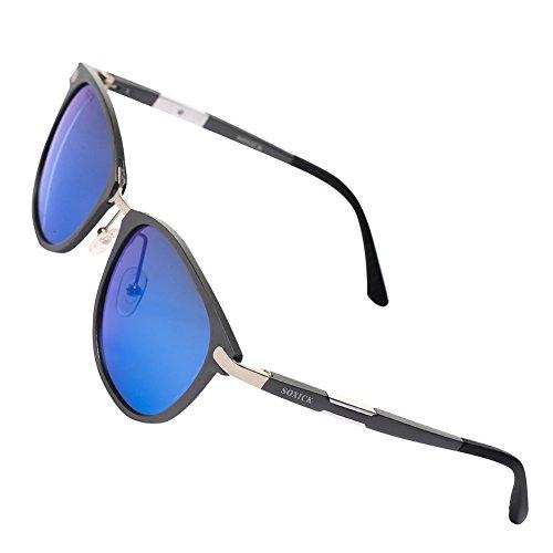 SOXICK Retro Round Polarized Sunglasses - Adjustable Vintage Metal Sunglasses For Women Men