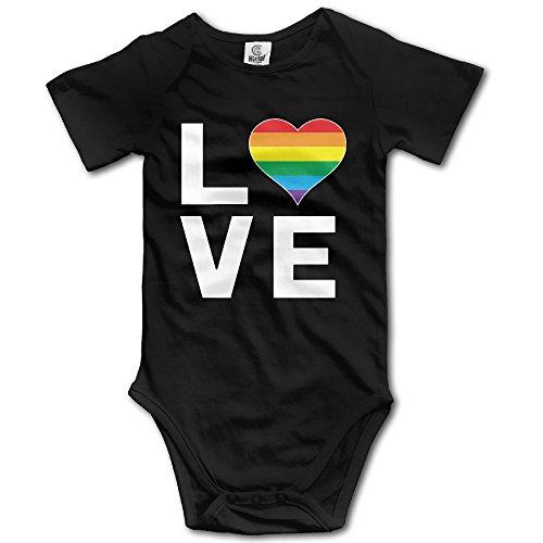 Sarona Design - Unisex LGBT Love Rainbow Heart Gay Lesbian Cool Baby Onesie Bodysuit