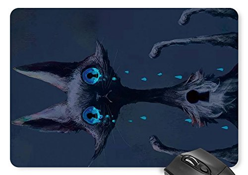 Mouse Mat black Cat - Halloween Print Mouse Pad -