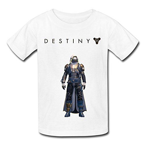Price comparison product image QMY Kid's Funny Quotes Destiny Ironbanner Hunter T-shirts Size M White